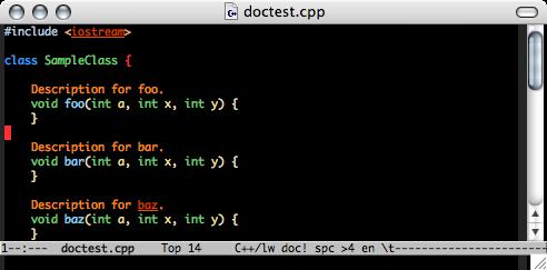 http://nschum.de/src/emacs/doc-mode/doc-mode-folding.png