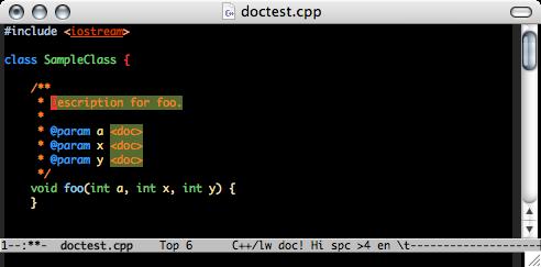 http://nschum.de/src/emacs/doc-mode/doc-mode.png